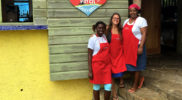 """At the """"Strawberry Patch"""" Cafe & Grill, Jamaica"""