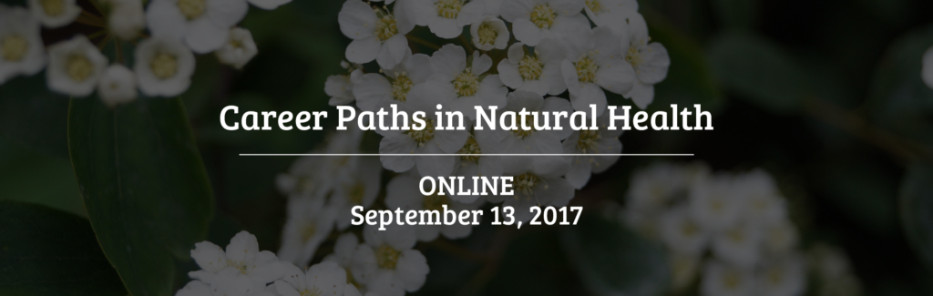 career paths in natural healths